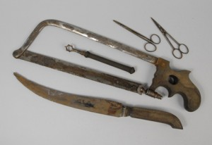 Dr. John Warren's Revolutionary War Amputation Kit (instruments from)