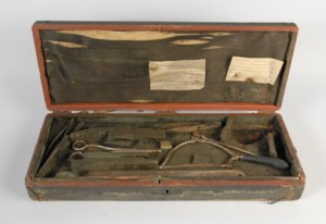 Dr. John Warren's Fish Skin Amputation Kit, Gift of Dr. Joseph Warren