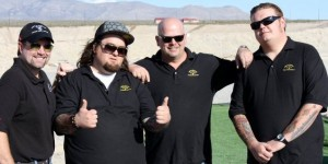 "Sean Rich (far left), expert in small arms and armour, featured expert on The History Channel's ""Pawn Stars"", advised in the writing of this article."