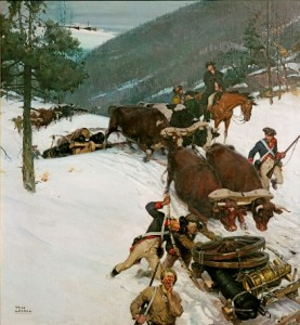The Noble Train of Artillery by Tom Lovell - Reproduced with kind permission of the Dixon Ticonderoga Company. All Rights Reserved.
