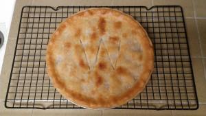 Making Warren Russet Apple Pie - The Finished Pie (W for Warren)